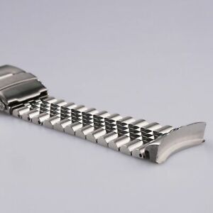 22mm Silver Solid Curved End Jubilee Watch Band Strap Bracelet For Seiko SKX 007