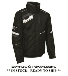 Castle X Men's Jacket Platform G6 Snowmobile Winter Riding Racing Coat Black