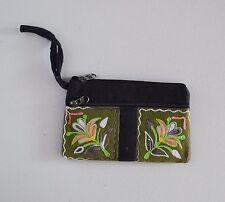 Purse Handbag Wallet Women Long Embroidered Zip Genuine Ladies Soft Case Money