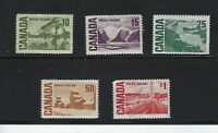 Set of 5 Canada Stamp S# 462, 463, 465A-C Centennial Year 1967 MH OG L392