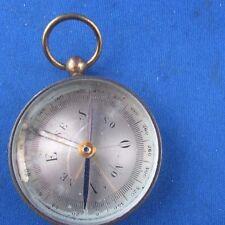 ancienne boussole paris en laiton militaire ou marine epoque 1900 4.5cm