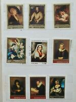 COLLECTION OF ART, PAINTINGS STAMPS DIFFERENT COUNTRIES IN STOCK BOOK - 220 pcs