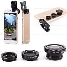 Universal Handy-Kamera Linse Set Fisheye + Makroobjektiv + Weitwinkel Objektiv