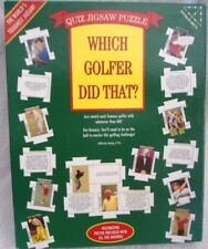 """Which Golfer Did That?"" 252 large pieces, quiz puzzle with poster. NEW-SEALED"