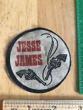 "Vintage Jesse James Old West Outlaw Cowboy Patch, Circa 1960s, 2.75"" Diameter"