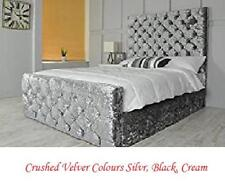 Colchester Bed Frame in Crushed velvet with DIAMANTE in size 3ft,4ft6,5ft