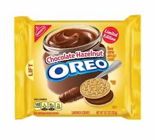 NEW LIMITED EDITION OREO CHOCOLATE HAZELNUT CREAM FLAVOR COOKIES 10.7 OZ