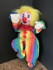 Vintage Hand made 18� Tall Stiffened Cloth Rag Doll Climbing Clown