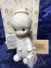 "Precious Moments ""It's A Perfect Boy"" Figurine #E-0512 Baby Gift"
