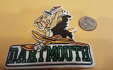 """The Dartmouth College big green vintage embroidered iron on patch 3.5"""" x 3.5"""""""