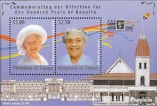 Tonga Block37 mint never hinged mnh 2000 queen mother Elizabeth