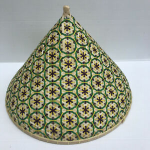 """Vintage Thai Handicraft Multi-Color Bamboo Wicker Cover Ploured Star Size 12 """""""