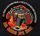 """FireFighters Real American Super Heroes 12"""" Large Embroidered Back Patch - New!"""