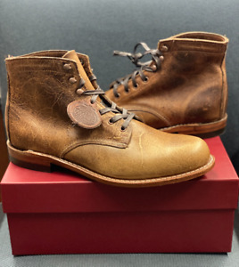 Wolverine 1000 Mile Cognac Brown Leather Boots - Mens SIZE 9.5  (W40580)