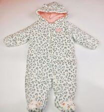 Little Wonders Baby Girl's  Layette Snowsuit Pink/Gray Soft Fleece Size 3-6 m
