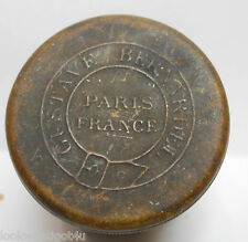 Antique Gustave Bernardel Brass rosin tin Paris france