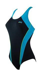 Zoggs Fresh Water Flexback Aqualast One Piece Swimming Costume Swimsuit / UK 10
