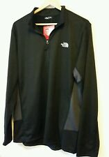THE NORTH FACE NEW CYCLOGENESIS BLACK LIGHTWEIGHT MENS 1/4 ZIP SHIRT Size M