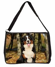 Bernese Mountain Dog 'Love You Dad' Large Black Laptop Shoulder Bag Sch, DAD-9SB