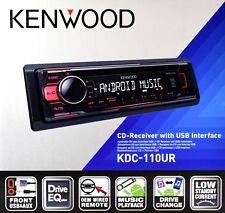 Kenwood KDC-110UR Autoradio CD-Tuner/AUX/USB/1DIN-Gerät/Rot