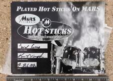 Hot Sticks on Mars Drummer Store Autographed 8x10 Promo Flyer Daru Jones agk