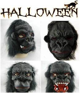 Adult Gorilla Face Halloween Latex Rubber mask fancy dress Carnival Accessory
