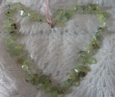 "Super quality Moss Agate Gemstone necklaces 18"" 925 clasp large organic shapes"