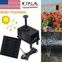 Solar Power Fountain Water Pump Kit Garden Plants Pond Pool Watering with Filter