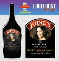 Personalised Liquer Irish Cream PHOTO Bottle Label - Perfect Birthday Gift