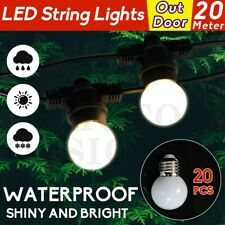 20M String Lights 20X LED Bulbs Festoon Wedding Party Fairy Outdoor/Indoor Patio