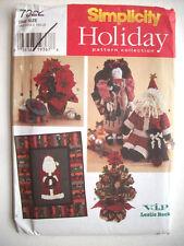 """Christmas decor 22"""" angel 19"""" santa quilt  pattern 7322 Unused"""