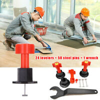 Reusable Anti-Lippage Tile Leveling System For Ceramic Floor Wall (75 Pcs/ Pack)