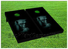 CORNHOLE BEANBAG TOSS GAME w Bags Game Hunted Statue of Creature Boards Set 828