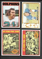 1972 NICE (4) CARD LOT KIICK, OLSEN SEMI-FINALS GAMES   FREE COMBINED S/H