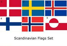 3x5 3'x5' Wholesale Lot Set SCandinavian Countries 6 Flags Flag