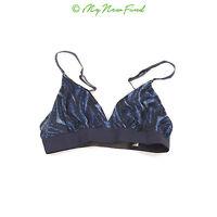 6bf812250ee26 Steve Madden Clean Edge Bralette Bra Size Medium Light Blue Dark Blue NEW  B44