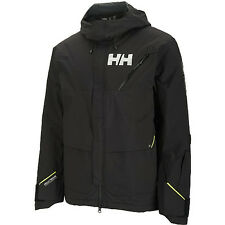 helly hansen mens cham full zip ski jacket skiing w/ rescue system black xl