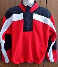 Vintage Obermeyer Polartec Fleece Pullover SKI Jacket Red/Black Men's Large