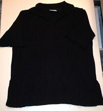 SALLY SAHNE Damen Strick Poloshirt Shirt Übergröße schwarz Gr.42 ***NEUWERTIG***