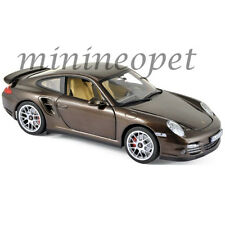 NOREV 187622 2010 PORSCHE 911 TURBO 1/18 DIECAST MODEL CAR BROWN METALLIC