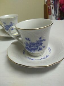 Gibson blue rose tea/coffee cup with saucer
