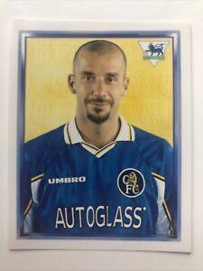 Merlin Premier League 1998 Football Sticker 140 Gianluca Vialli Chelsea