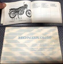 HONDA CB650 Libretto uso e manutenzione