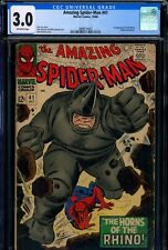 Amazing Spider-Man #41 CGC 3 1st appearance of the Rhino Silver Age Key