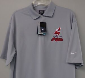 Cleveland Indians Nike Golf Embroidered Mens Polo XS-6X, LT-4XLT Chief Wahoo NEW