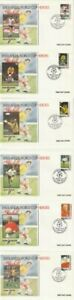 ANTIGUA & BARBUDA 30 JULY 1993 USA '94 WORLD CUP SET OF ALL 6 FIRST DAY COVERS