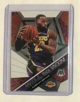 LeBron James 2019-20 Panini Mosaic - Will to Win (Base) #7 - Los Angeles Lakers