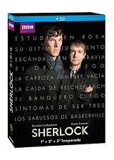Sherlock TEMPORADAS 1 2 3 BLU RAY ESPAÑOL NUEVO CASTELLANO  PRIMERA SEGUNDA TERC