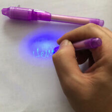 2pcs Magic Invisible Ink Spy Pen Light Marker Pen Office Stationery Supply Gift