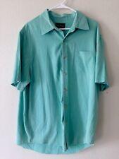 VTG. Old School Mens NAT NAST Front Pocket 70% Silk 30% Cotton Short Sleeve L